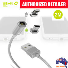 2M WSKEN mini2 Silver Magnetic Charging Cable 4 Android/ Apple devices
