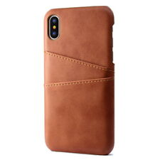 For iPhone X 8 6 7 Plus Luxury Leather Wallet Card Pocket Holder Slim Case Cover