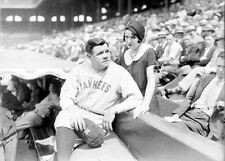 1930 Photo of Babe Ruth and His Wife Claire at Comiskey Park, Chicago