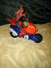 Super Poseable Spiderman 2 Vintage 6 Action Figure 2003 Marvel Legends lego bike