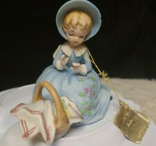 "Rare! Josef Originals ""Days of Tom Sawyer"" Series ""Becky"" Figurine ~ As Is~"