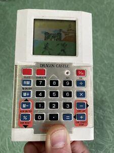 Dragon Castle Calculator Time & Fun (1982) VTL / Vtech - Vintage Handheld Game