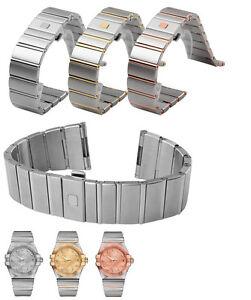 316L St Steel Omega constellation (FITS) 23mm 25mm 18mm bracelet strap band