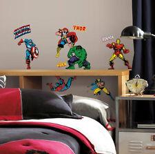 MARVEL SUPERHEROES wall stickers 32 big decals Iron Man Hulk Capt America decor