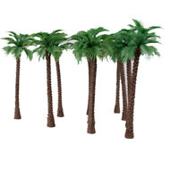 10 x Model Coconut Palm Trees 1/100 11cm
