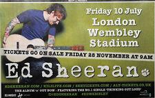 ED SHEERAN LONDON WEMBLEY STADIUM 2015 MAGAZINE ADVERT