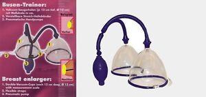 Breast Enlargement Pump Set Vakuum Busen Saugschalen zur Brustvergrößerung NEU