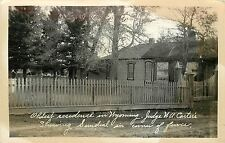 1924-1949 RPPC; Oldest Residence in WY Fort Bridger Judge W.A. Carter's, Sundial