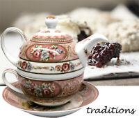 "Russian Caravan Tea For One 3 piece Set  ""Alexandra"" - AU Shop"