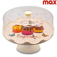 Alzata Portadolci Con Piede e Campana Alzatina Cupcake Dolci Torte 26 x 18 cm