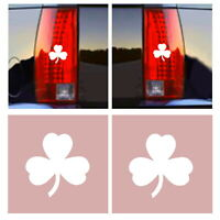 NEW FUN SET OF 2:IRISH IRELAND SHAMROCK CLOVER TAIL LIGHT AUTO CAR BRAKE EMBLEMS