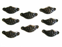 Brass Ornate Armour Cabinet Knob / Drawer Pull - Set 8  - Antique Finish 7.2 cm