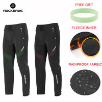 ROCKBROS Mens Cycling Winter Windproof Pants Fleece Warm Thermal Casual Trousers