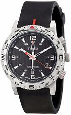 Timex Mens Intelligent Quartz Adventure Series INDIGLO Compass Black Watch NEW!