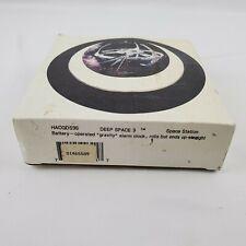 """STMI500 1999 Star Trek Enterprise /""""E/"""" Beveled Glass Clock in Original Box!!"""