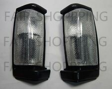 Corner Turn Signal Light Lamp black frame for Nissan D21 Navara Pickup Truck