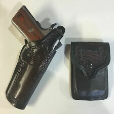 """Colt 1911 5"""", Remington, Springfield Holster & Pouch Leather U.S.A. Flag Holster"""