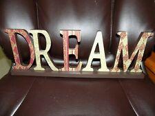 "Home Decor ""DREAM"" Wooden Word Decorative Sign"