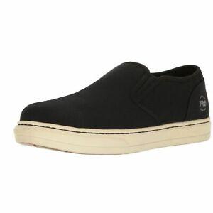 Men's Timberland PRO Work Shoes Disruptor Slip On Alloy Toe Black/White Shoe