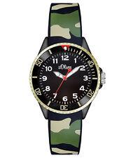 s.Oliver Unisex Silicone Watch So-analogue Quartz 2998–pq