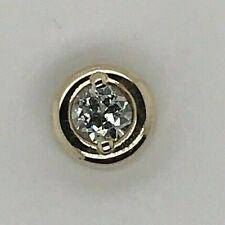 14k Yellow Gold Round .50 Ct Diamond Solitaire Slide Pendant