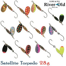 River Old Satellite Torpedo 2.8 g Trout Spinner Assorted Colors