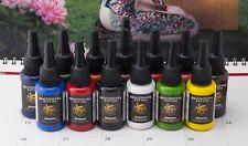 DragonHawk Tattoofarbe 14in1 (je 15ml) Tattoo Farbe Tätowierfarbe Ink Colors Set