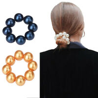 Fashion Women's Elastic Pearl Hair Rope Tie Hair Band Ring Ponytail Holders