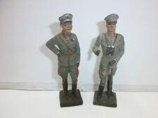 Konvolut 2 alte Lineol Massesoldaten zu 7.5cm Generäle Blomberg
