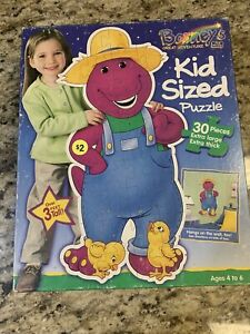 Barneys Great Adventure  Kid Sized Puzzle 3 Feet 30 Pieces Complete 1998 Vint