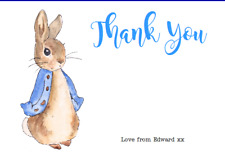 personalised photo paper card thank you notes PETER RABBIT 1ST BIRTHDAY PARTY #2