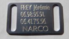 PLAQUE Médaille gravée argenté collier Chien harnais gravure offerte gm