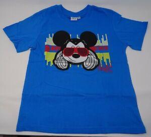 Disney Mickey Mouse T-Shirt kurzarm in blau * Gr.128 für Coole Kids
