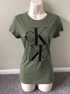 Calvin Klein Green CK Graphic Casual Tee Shirt (M)