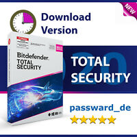 Bitdefender Total Security Multi-Device 2020 | 3 PC Geräte 1 Jahr (365 Tage)