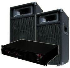 DJ Party PA ANLAGE Verstärker + BOXEN System DJ-700 Endstufe & PW20 Lautsprecher