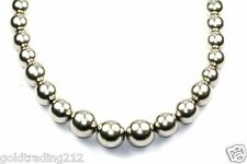 VINTAGE MEXICO GRADUATED BALLS BEADED NECKLACE 925 STERLING Silver 23 in NC 374