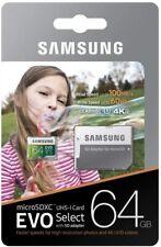 Samsung EVO Select 64GB microSD SDXC UHS-I U3 100 MB/s class 10 4K memory card