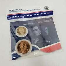 2010 Presidential $1 Coin & 1st Spouse Medal Franklin & Jane Pierce Set CBX4FP42