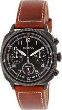 Bulova Men's 98B245 Brown Leather Quartz Watch