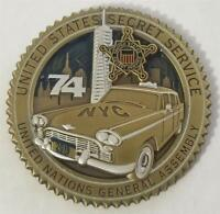 Secret Service 2019 UNGA 74 United Nations Assembly Challenge Coin Donald Trump