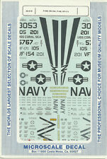 1/48 MicroScale Decals US Navy Phantom F-4N VR-154 & F-4S VF-171 48-219
