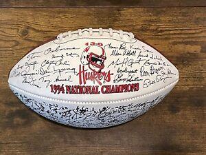 1994 Nebraska Cornhuskers NCAA Football Champs Vintage AUTO-SIGNED Team Ball