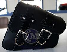 Black PU Leather Right Solo Side saddleBag Saddle Bag for Harley Sportster  883