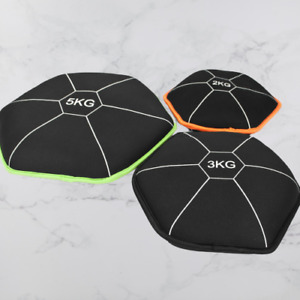 10kg Neoprene Soft Weight Plate Set Sand Filled Exercise Home Gym Training