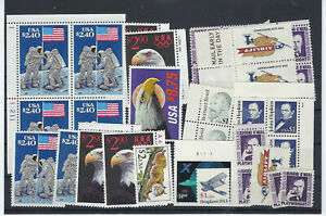 US $75.00 FACE MINT/NH POSTAGE LOT OF $1.00 to $14.40 HIGH DENOMINATION STAMPS