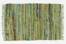 "Sturbridge Rag Rug  in Sage Green,  30""x 50"", Great Throw Rug for High Traffic"