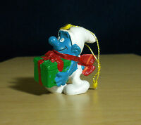 Smurfs Christmas Smurf 51902 Ornament Present Figurine Vintage Gift Toy Figure