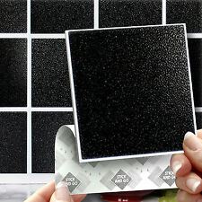 18 Peel, STICK & GO Bastone Nero su piastrelle parete per cucine o bagni
