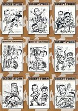 DESERT STORM CARD COLLECTION 1991 CROWN SPORTS FACTORY BASE CARD SET OF 9 MS